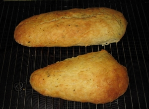 Baguette olive oil with herbs Bread recipe