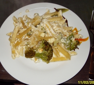 Broccoli pasta bake with feta recipe