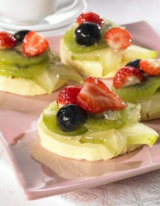 Butter cream with fruit slices Biscuits recipe