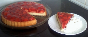 Cake with strawberry soda covering Strawberry Cake recipe