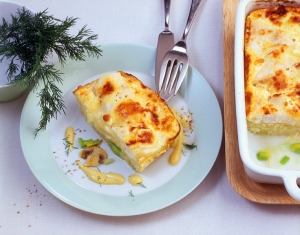 Cod pie with mustard sauce recipe