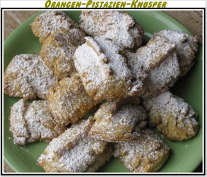 Crunchy PistachioOrange without egg Biscuits recipe