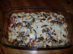 Eggplant pasta bake with feta cheese Pasta Bake recipe