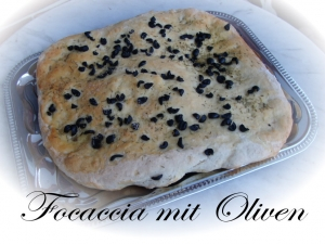 Focaccia with olives Bread recipe