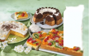 Fruit cake with cottage cheese and sour cream batter and oil filling Cake recipe