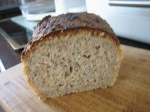Grainswheat bread baked in the Flavor Wave Platinum Bread recipe