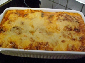 Lasagna with tomato minced meat and crme frache Pasta Bake recipe