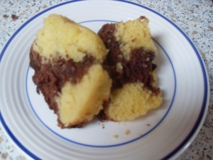 Marble cake with white and dark chocolate Biscuits recipe