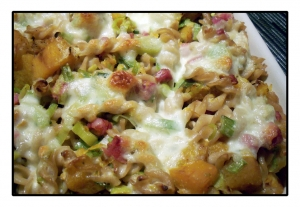 Pasta bake with ham and pumpkin Pasta Bake recipe