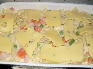 Pasta bake with ham peas and carrots Pasta Bake recipe