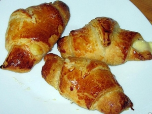 Puff pastry ham croissants Biscuits recipe