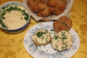 Quick bread with cottage cheese Obatzda Biscuits recipe