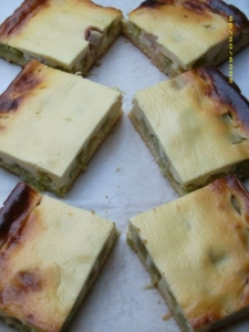 Rhubarbquark cuts from sheet Sheet Cake recipe