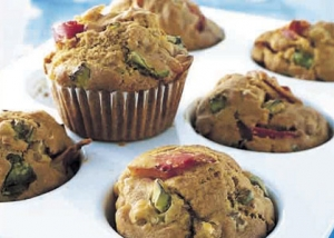 Savoury Bacon Muffins Cake recipe