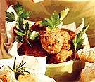 Spicy meatballs Bread recipe