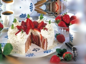 Strawberry with chocolate sponge cake diaper sites Strawberry Cake recipe