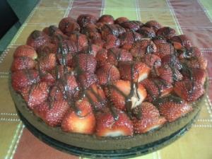 Vegan strawberry cake sponge cake