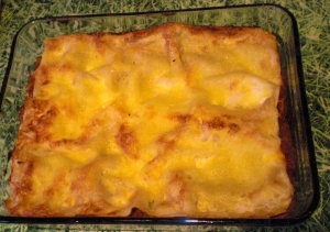 Vegetable lasagna with cheese crust Other recipe