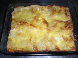 Vegetarian lasagne with cheese sauce Pasta Bake recipe