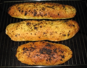 White bread baguette with herb crust Bread recipe