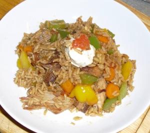 Asian rice dish gewokt