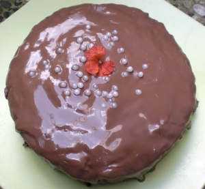 Chocolate cake with chocolate nougat Cake recipe