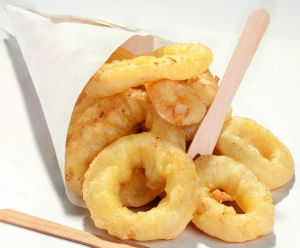Deepfried squid rings
