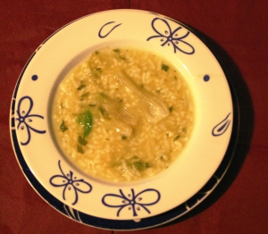 Fennel soup with rice