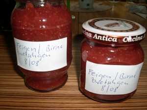 Fig plum and pear jam