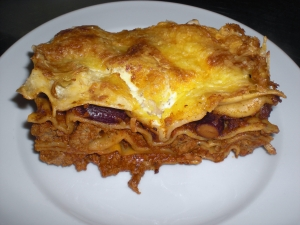 Lasagne with basil