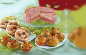 Lemon and orange muffins with smarties Cake recipe