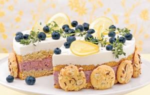 Lemon thyme cream and blueberry
