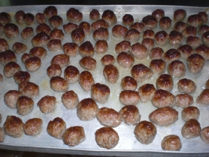Meatballs from the oven not fried