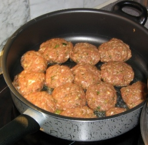 Meatballs meatballs with feta