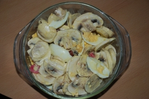 Mushroom salad Hearty and delicate recipe