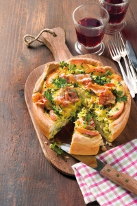 Savoy cabbage and bacon quiche Cake recipe