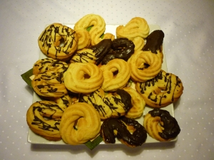 Shortbread cookies in the flavor wave Oven baked Cookie recipe