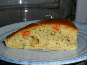 Tamani herb cake baked in the Flavor Wave Oven