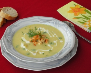 Celeriac cream soup