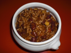 Chili con carne with a difference