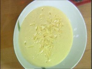 Truffled celeriac soup with parmesan