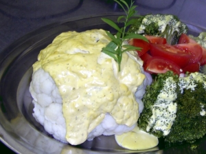 Cauliflower with tarragon sauce