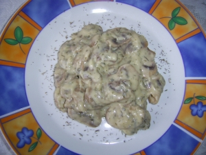 Champions in thymecream sauce