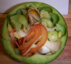 Melon-and-chicory-salad