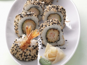 Black amp White Shrimp Roll California roll with fried shrimp