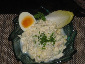 Chicory salad with egg