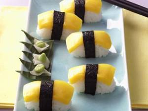 Sunshine Sushi Nigiri sushi with mango