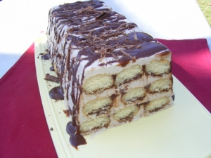 Banana-with-chocolate-sauce-Charlotte-recipe