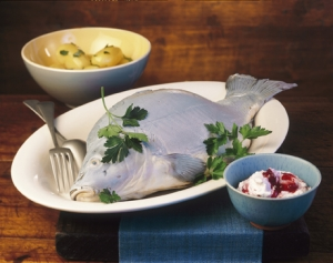 Blue Carp With Horseradish Cream
