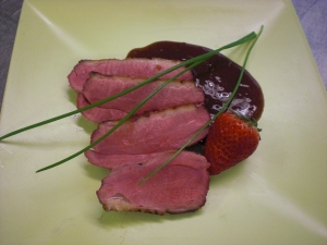 Duck Breast With Berry Sauce